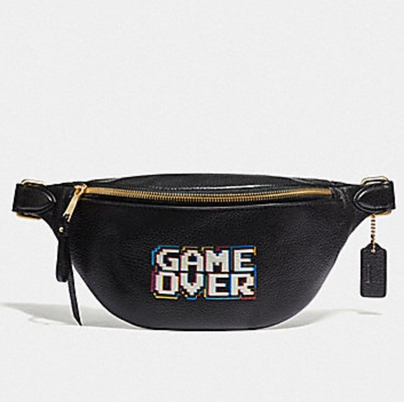 327d7601b47 Coach Pacman Game Over Fanny Pack Belt Bag NWT